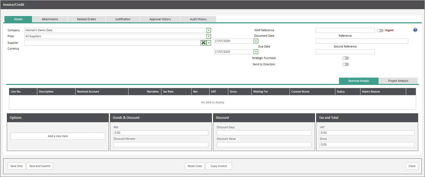 Sicon WAP Invoice Help and User Guide - Invoice HUG Section 10 Image 1