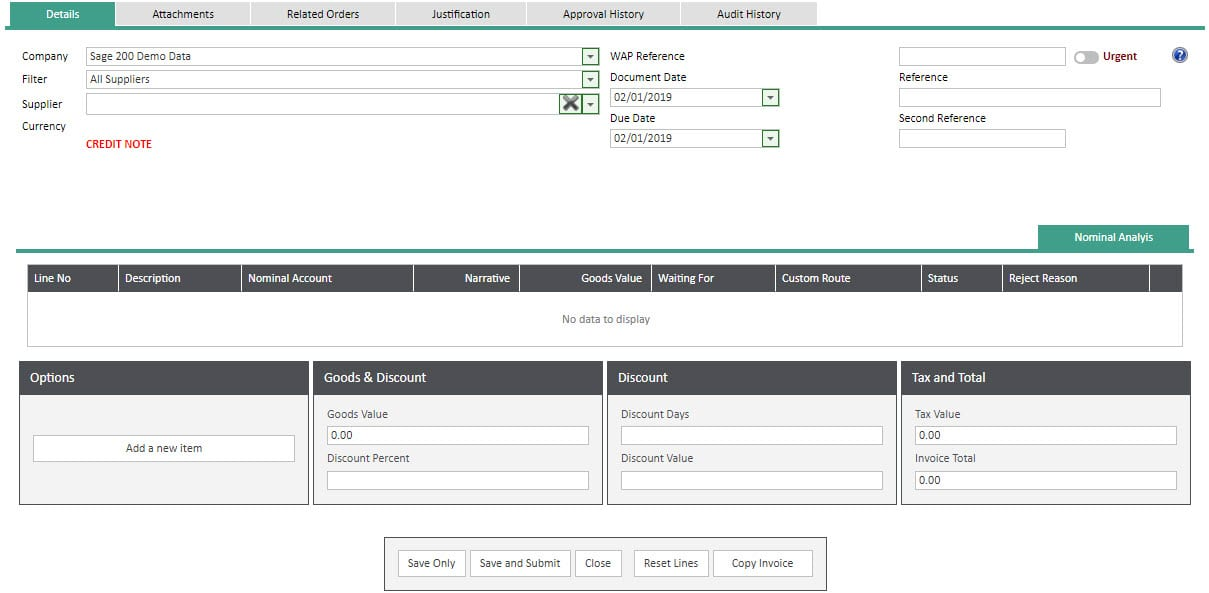 Sicon WAP Invoice Help and User Guide - Invoice HUG Section 11 Image 1