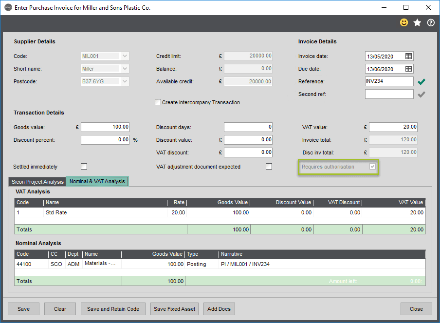Sicon WAP Invoice Help and User Guide - Invoice HUG Section 2.1 Image 2