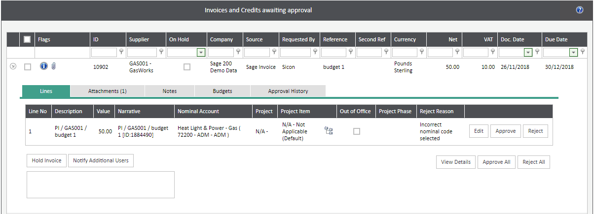 Sicon WAP Invoice Help and User Guide - Invoice HUG Section 4.2 Image 4