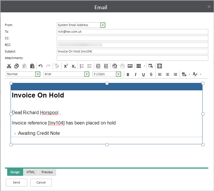 Sicon WAP Invoice Help and User Guide - Invoice HUG Section 4.3 Image 6
