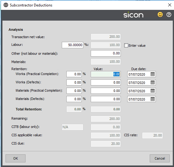 Sicon WAP Invoice Help and User Guide - Invoice HUG Section 4.4 Image 2