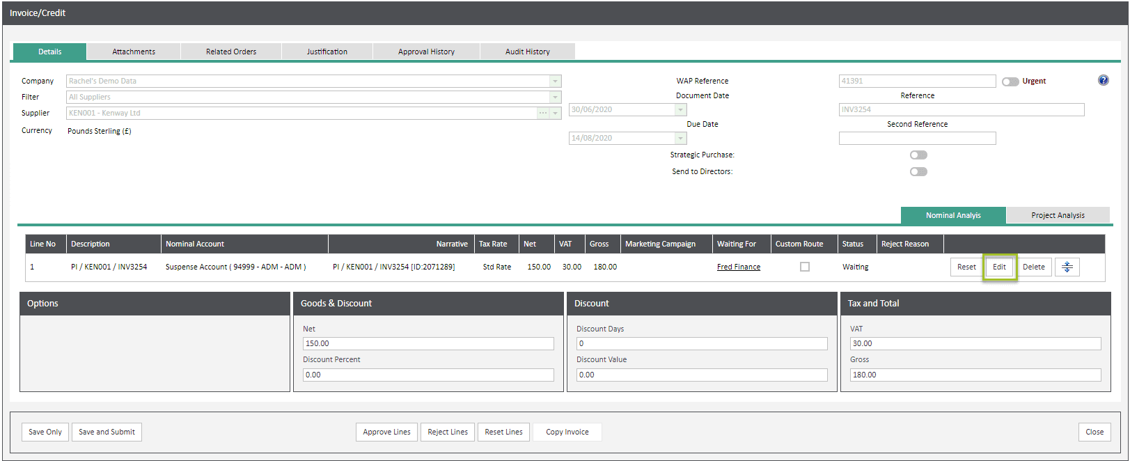 Sicon WAP Invoice Help and User Guide - Invoice HUG Section 6 Image 3