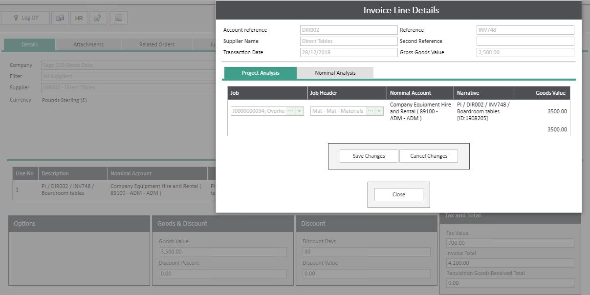 Sicon WAP Invoice Help and User Guide - Invoice HUG Section 6.1 Image 1
