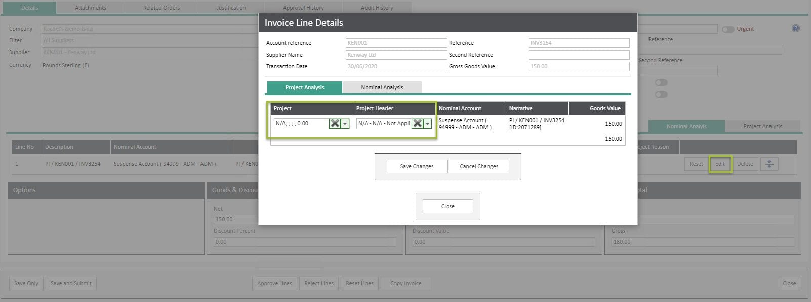 Sicon WAP Invoice Help and User Guide - Invoice HUG Section 6.1 Image 2