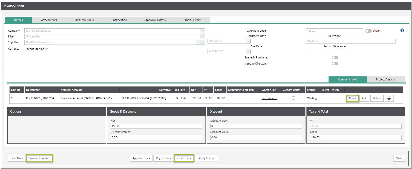 Sicon WAP Invoice Help and User Guide - Invoice HUG Section 6.1 Image 3