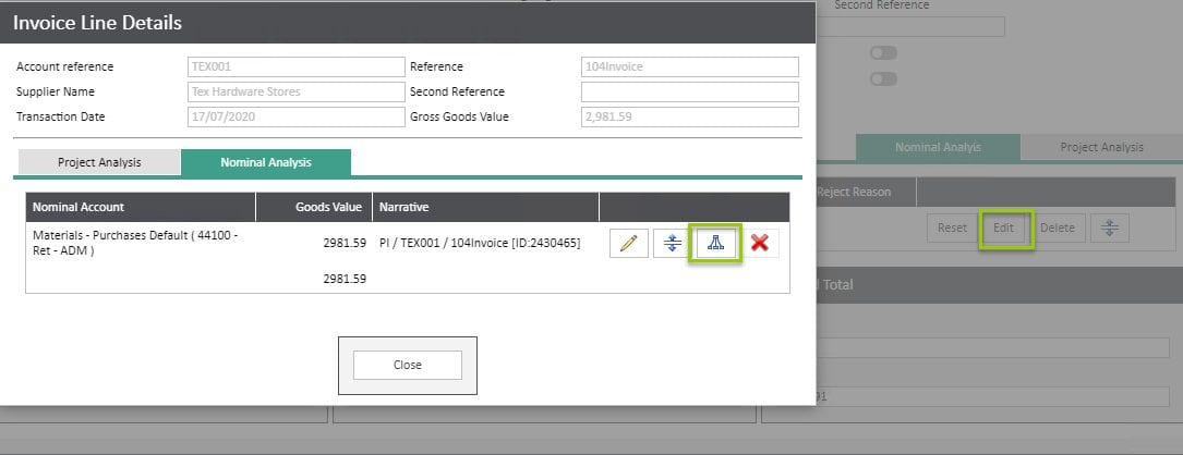 Sicon WAP Invoice Help and User Guide - Invoice HUG Section 6.4 Image 1
