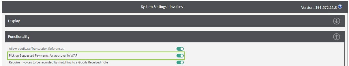 Sicon WAP Invoice Help and User Guide - Invoice HUG Section 8.1 Image 2