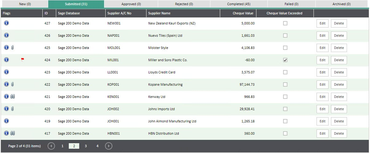 Sicon WAP Invoice Help and User Guide - Invoice HUG Section 8.4 Image 1