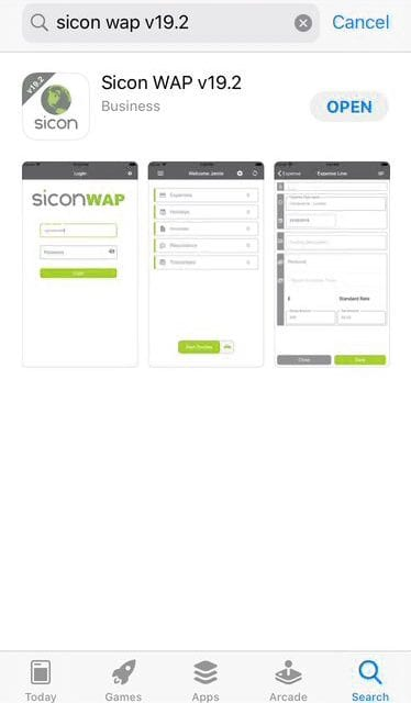 Sicon WAP App Help and User Guide - WAP App HUG Image Section 3.1 Image 3