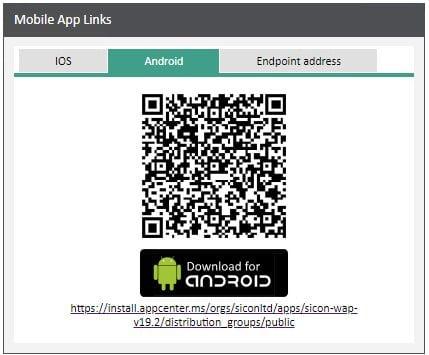 Sicon WAP App Help and User Guide - WAP App HUG Image Section 3.2 Image 1