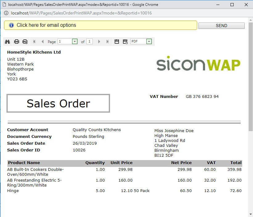 Sicon WAP Sales Orders Help and User Guide - SO HUG Section 9 Image 1