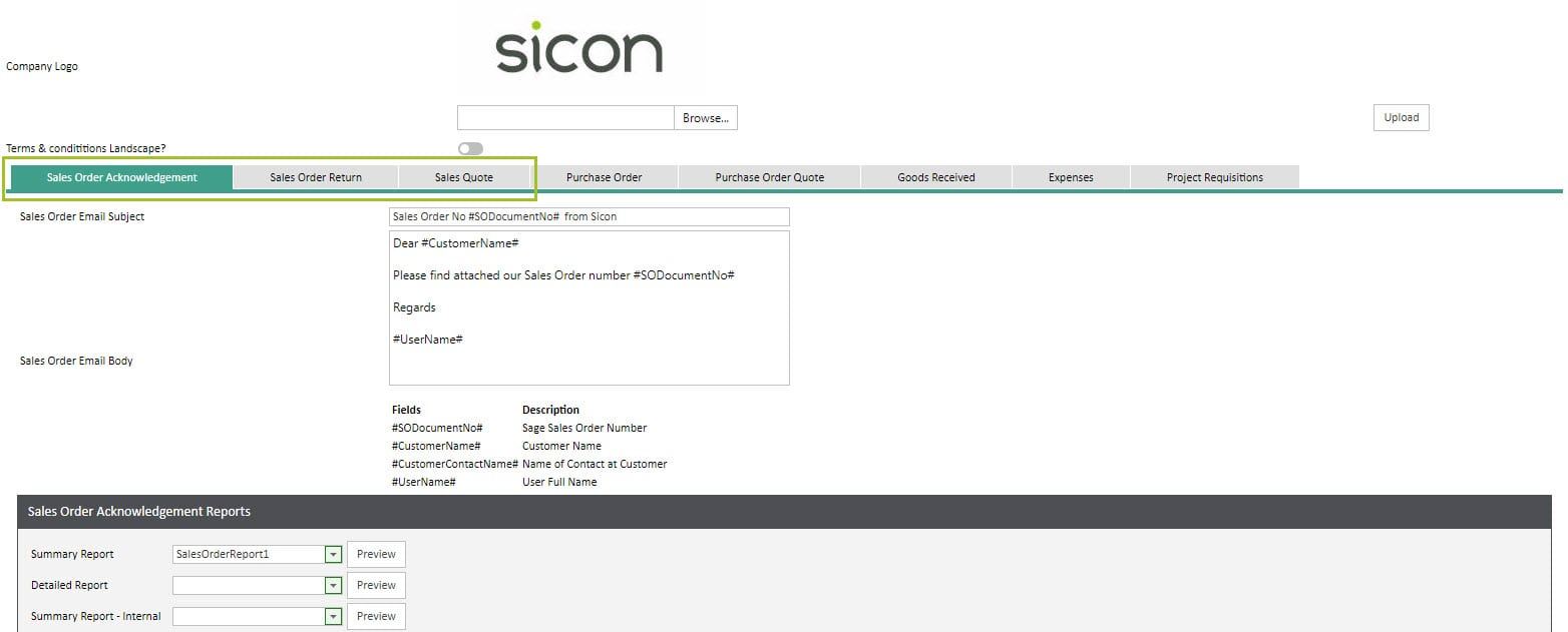 Sicon WAP Sales Orders Help and User Guide - SO HUG Section 9.1 Image 2