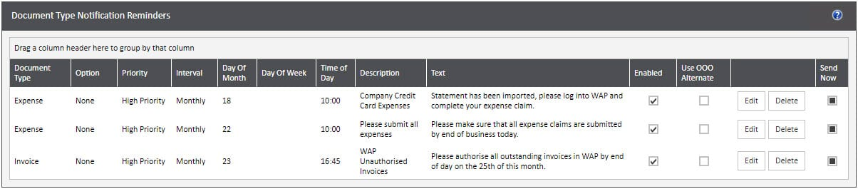 Sicon WAP System Settings Help and User Guide - WAP System HUG Section 20 Image 1