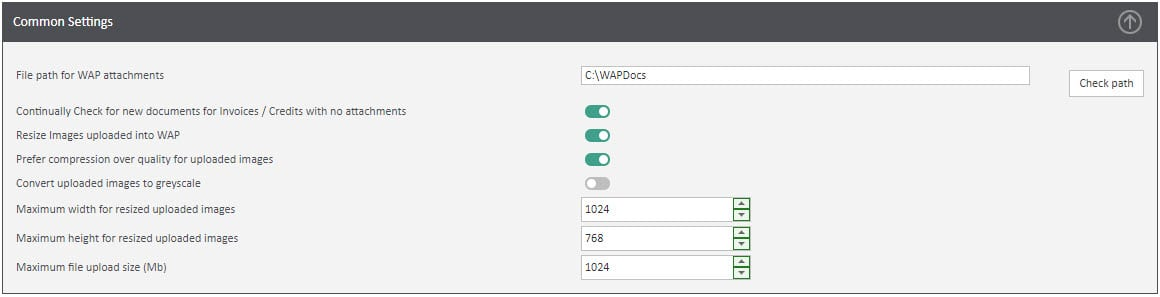 Sicon WAP System Settings Help and User Guide - WAP System HUG Section 5.1 Image 1