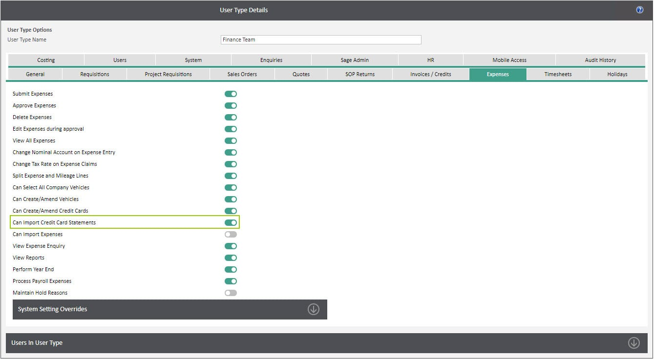 Sicon WAP Expenses Help and User Guide - Expenses HUG Section 12.3 Image 1