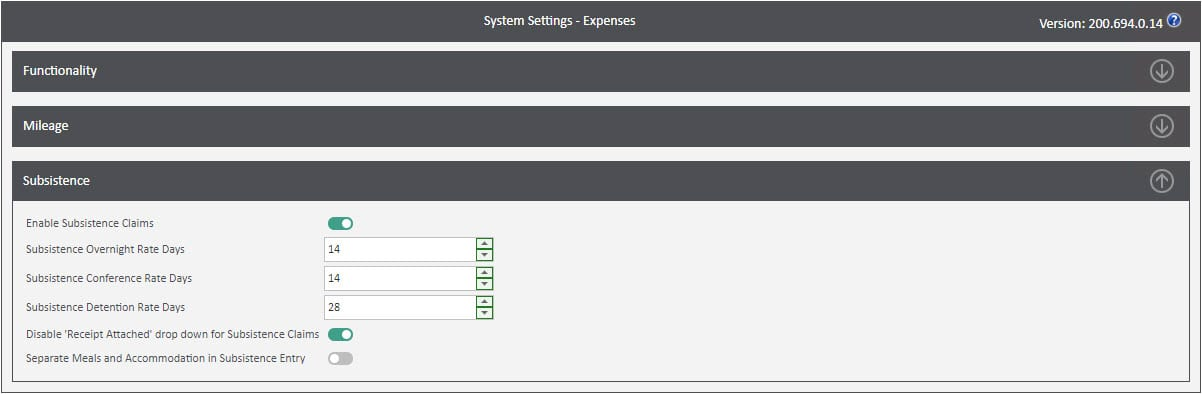 Sicon WAP Expenses Help and User Guide - Expenses HUG Section 13.2 Image 1