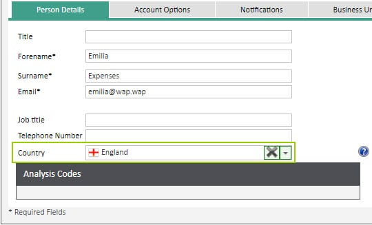 Sicon WAP Expenses Help and User Guide - Expenses HUG Section 13.3 Image 2