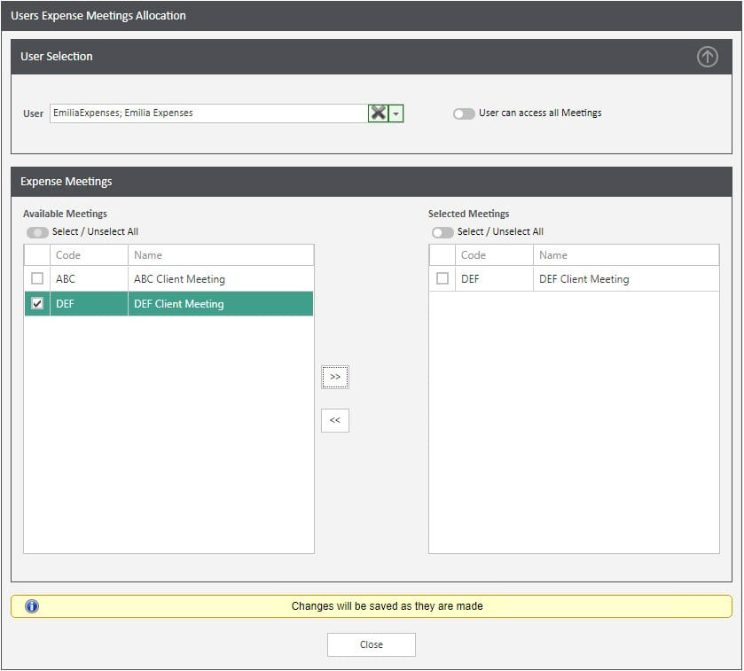 Sicon WAP Expenses Help and User Guide - Expenses HUG Section 15.4 Image 1