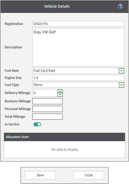Sicon WAP Expenses Help and User Guide - Expenses HUG Section 16.3 Image 1