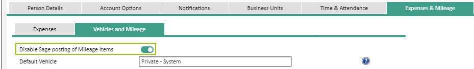 Sicon WAP Expenses Help and User Guide - Expenses HUG Section 17.1 Image 2
