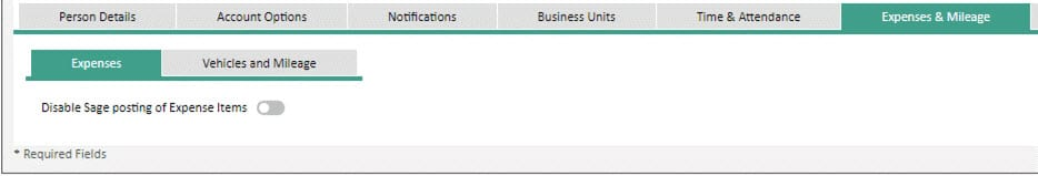 Sicon WAP Expenses Help and User Guide - Expenses HUG Section 22.3 Image 1