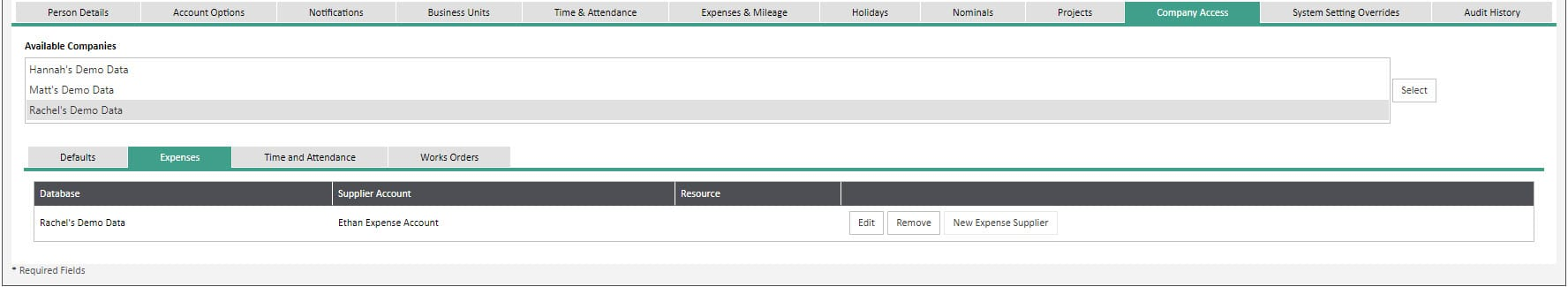 Sicon WAP Expenses Help and User Guide - Expenses HUG Section 22.7 Image 1