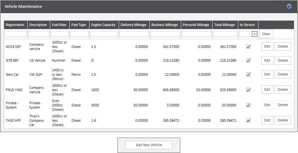 Sicon WAP Expenses Help and User Guide - Expenses HUG Section 4.2 Image 1