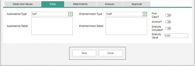 Sicon WAP Expenses Help and User Guide - Expenses HUG Section 6.1 Image 2