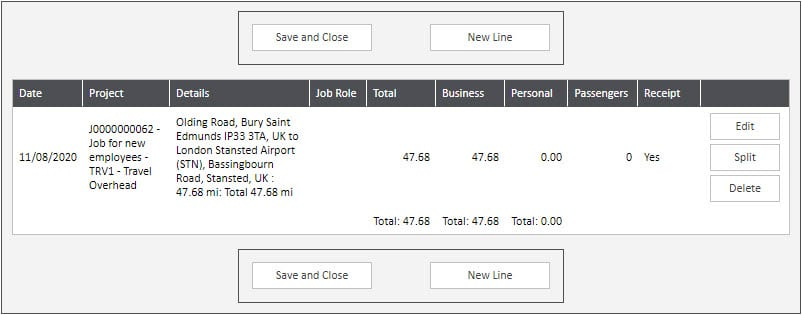 Sicon WAP Expenses Help and User Guide - Expenses HUG Section 6.3 Image 10