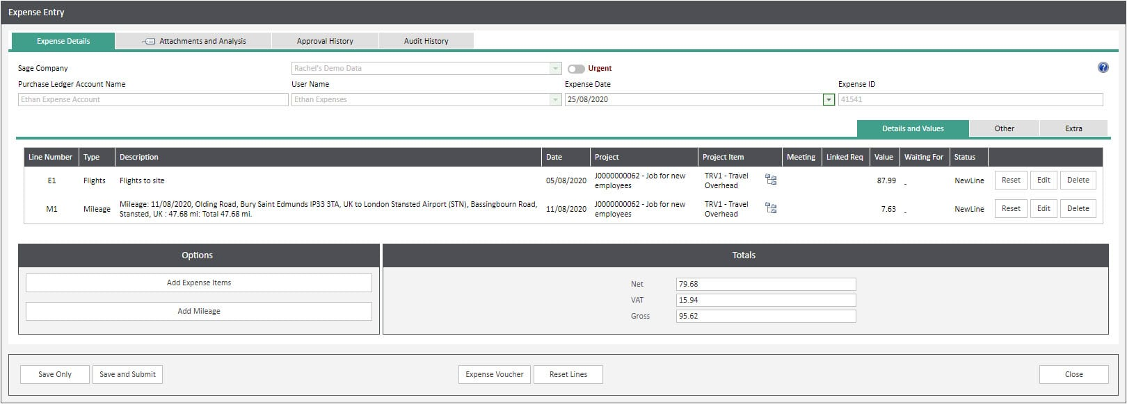 Sicon WAP Expenses Help and User Guide - Expenses HUG Section 6.3 Image 11