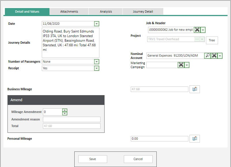 Sicon WAP Expenses Help and User Guide - Expenses HUG Section 6.3 Image 3