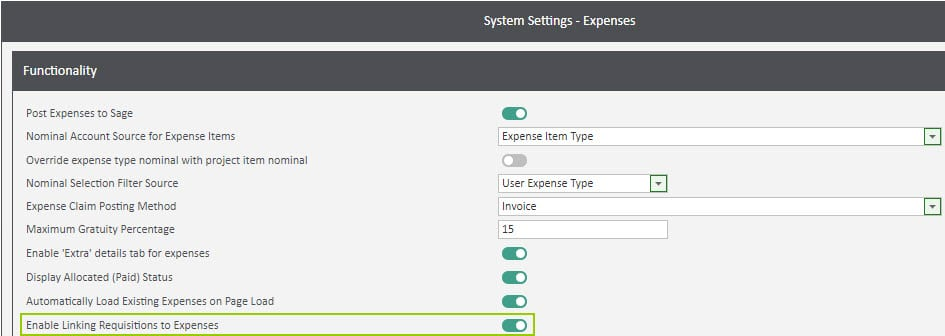 Sicon WAP Expenses Help and User Guide - Expenses HUG Section 9.1 Image 1