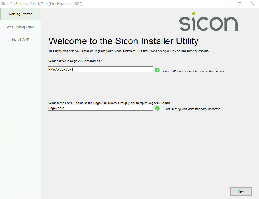 Sicon WAP Install Help and User Guide - WAP Install HUG 2.6 - Image 2