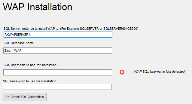 Sicon WAP Install Help and User Guide - WAP Install HUG 2.6 - Image 7