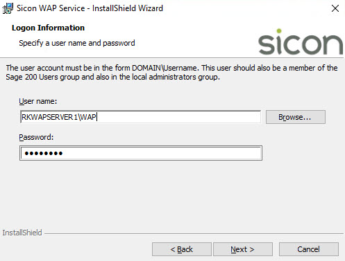 Sicon WAP Install Help and User Guide - WAP Install HUG 2.8 - Image 4