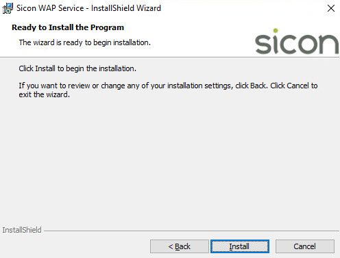 Sicon WAP Install Help and User Guide - WAP Install HUG 2.8 - Image 5