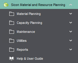 Sicon Material & Resource Planning Help and User Guide - Pic1