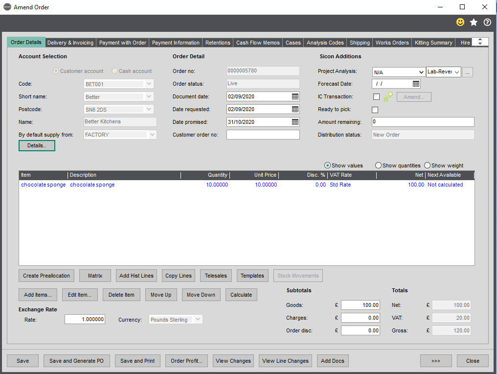 Sicon Material & Resource Planning Help and User Guide - Pic102