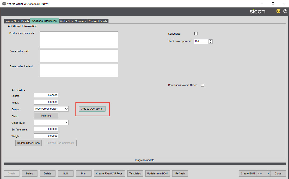 Sicon Material & Resource Planning Help and User Guide - Pic121a
