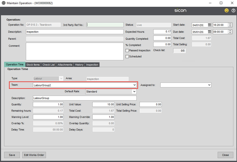 Sicon Material & Resource Planning Help and User Guide - Pic123b