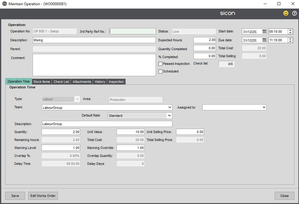 Sicon Material & Resource Planning Help and User Guide - Pic124