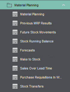 Sicon Material & Resource Planning Help and User Guide - Pic1a