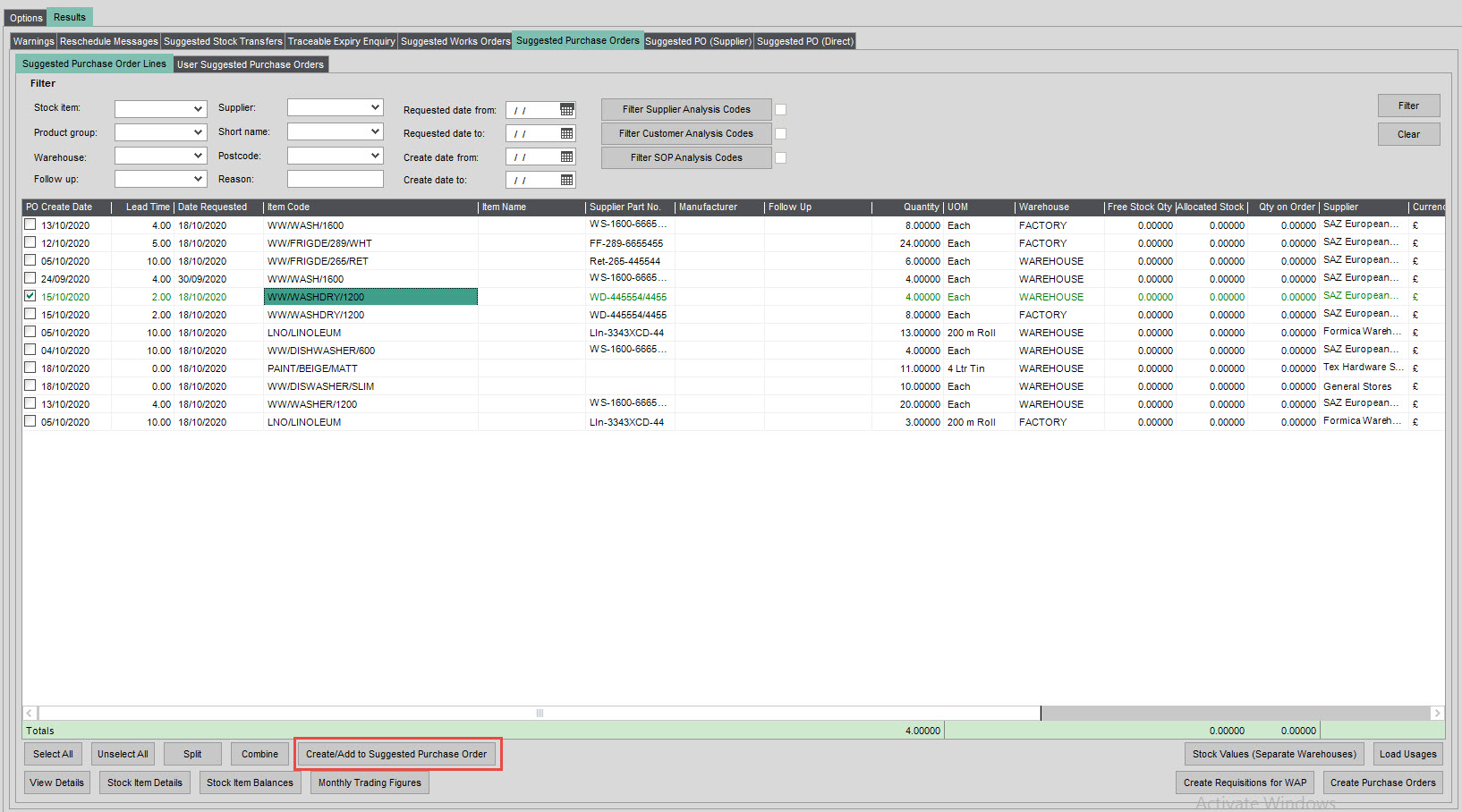 Sicon Material & Resource Planning Help and User Guide - Pic20
