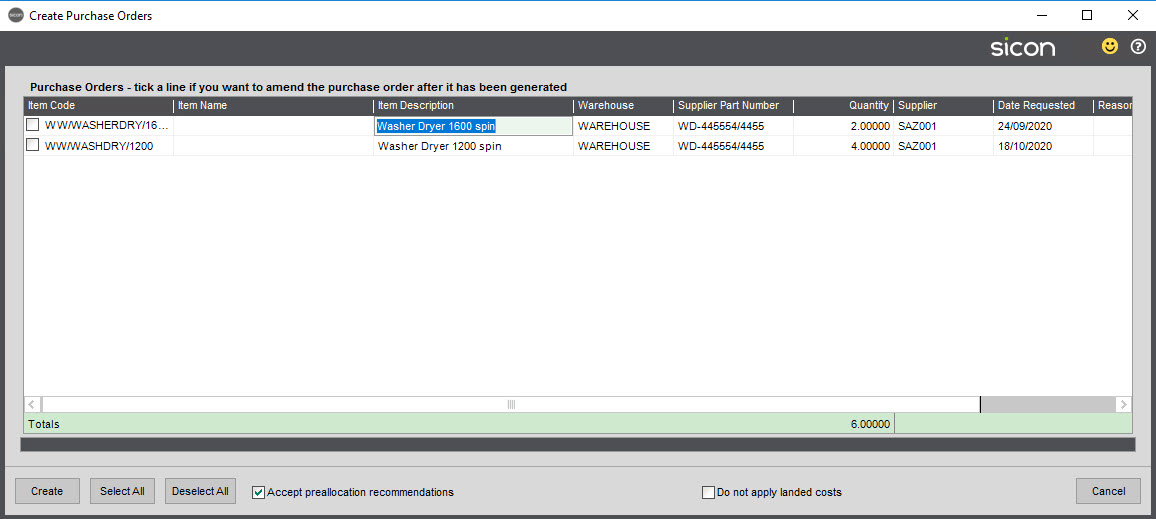 Sicon Material & Resource Planning Help and User Guide - Pic26