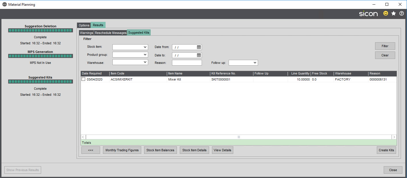 Sicon Material & Resource Planning Help and User Guide - Pic6