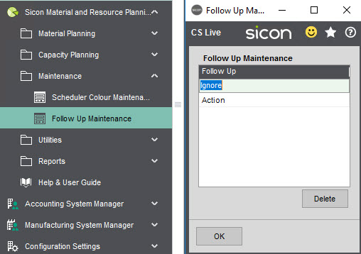 Sicon Material & Resource Planning Help and User Guide - Pic7