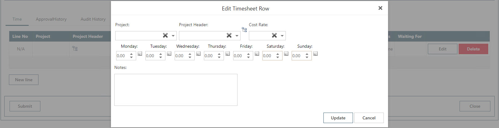 WAP Timesheets help and user guide - Timesheet HUG Section 10.1 Image 2