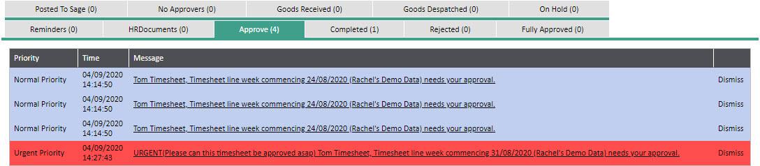 WAP Timesheets help and user guide - Timesheet HUG Section 12.3 Image 3