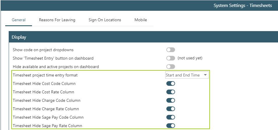 WAP Timesheets help and user guide - Timesheet HUG Section 18 Image 1
